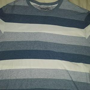 Express Shirts - EXPRESS BLUE&WHITE STRIPED L t shirt